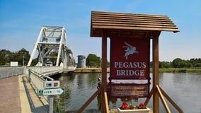 Pegasus bridge in Bonneville. royalty free stock photo