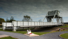 Pegasus Bridge in France. Pegasus bridge, liberated by British glider troops at the beginning of D Day, June 6, 1944 Royalty Free Stock Image