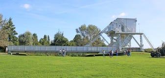 Pegasus bridge, Normandy. Pegasus bridge in a museum in Normandy, France stock photo