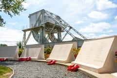 Pegasus bro i Frankrike andra världskrig Fotografering för Bildbyråer