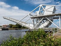 Pegasus bro i Normandie, Frankrike royaltyfria foton