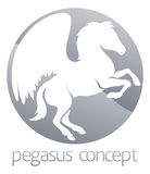 Pegasus circle concept Stock Images