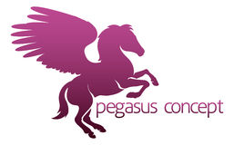 Pegasus concept Stock Photos