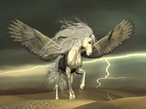 Pegasus and Dark Skies Royalty Free Stock Photo