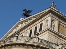 Pegasus an der alten Oper Frankfurt Stockfoto
