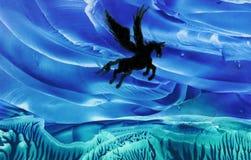 Pegasus durante il volo Fotografie Stock Libere da Diritti