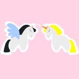 Pegasus en eenhoorn Royalty-vrije Stock Fotografie