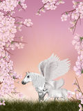 Pegasus fairy tale Stock Images
