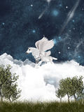 Pegasus fairy tale Stock Photography