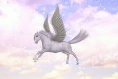 Pegasus-Fliegen-Pferdehengst-griechische Mythologie-Illustration Lizenzfreies Stockfoto