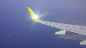 Pegasus is flying. Flying above English Channel. Flying with Pegasus to Istanbul Turkey Royalty Free Stock Images
