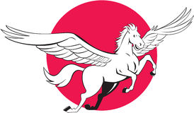 Pegasus Flying Horse Cartoon Stock Photos