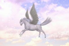 Pegasus Flying Horse Stallion Greek Mythology Illustration Royalty Free Stock Photo