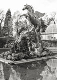 Pegasus Fountain in the Mirabell Gardens in Salzburg, Austria Royalty Free Stock Images