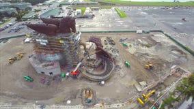 Pegasus Gulfstream aerial video stock footage