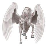 Pegasus ha traversato il cavallo volando Fotografia Stock Libera da Diritti