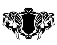 Pegasus heraldic design Royalty Free Stock Photo
