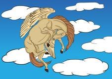 Pegasus het stijgen Stock Foto's