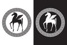 Pegasus het vliegende paard Stock Afbeelding