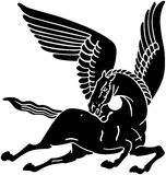 Pegasus Horse Silhouette Royalty Free Stock Photos