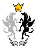 Pegasus king symbol Stock Image
