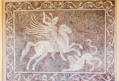 Pegasus Lion Mosaic Rhodes Greece Royalty Free Stock Photo