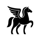 Pegasus logo template Royalty Free Stock Photography