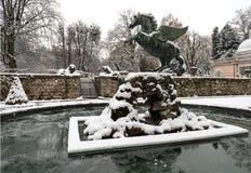 Pegasus in Mirabell Gardens Stock Photo