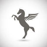 Pegasus mythisch gevleugeld paard Stock Foto's