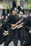The Pegasus Parade 2018. Louisville, Kentucky, USA - May 03, 2018: The Pegasus Parade, Marching band from Jasper Indiana, perform during the parade stock images