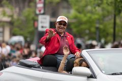 The Pegasus Parade 2018. Louisville, Kentucky, USA - May 03, 2018: The Pegasus Parade, World War Two veteran from the Tuskegee african american unit royalty free stock image