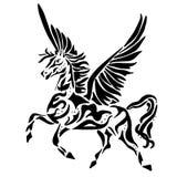 Pegasus pour la coloration ou le tatouage illustration de vecteur