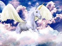 pegasus purpur niebo royalty ilustracja