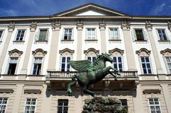 Pegasus sculpture in the Mirabell Garden Stock Photography