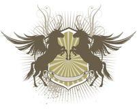 Pegasus shield Stock Images
