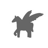 Pegasus  sign   illustration Royalty Free Stock Images