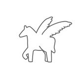Pegasus  sign   illustration Royalty Free Stock Photos
