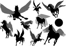 Pegasus silhouette Royalty Free Stock Photo