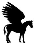 Pegasus Silhouette Royalty Free Stock Photo