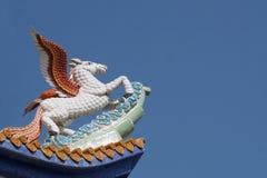 Pegasus skulptur Arkivbild