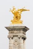 Alexandre III bridge, Paris Stock Images