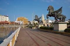 Pegasus Statues in Cartagena Royalty Free Stock Photo