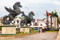 Pegasus Statues in Cartagena. Stock Photos