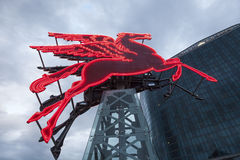 Pegasus staty i Dallas, Texas Arkivfoto