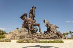 Pegasus staty på Gulfstream Park, Florida Arkivfoto