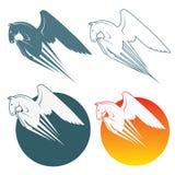 Pegasus symbol Stock Images