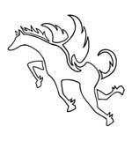 Pegasus symbol Stock Photography