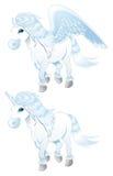 Pegasus und Einhorn lizenzfreie abbildung