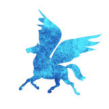 Pegasus  watercolor silhouettes icon isolated Stock Images