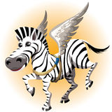 The pegasus zebra Royalty Free Stock Images